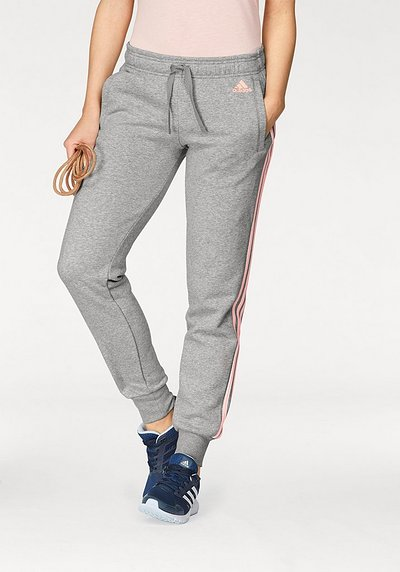 adidas Performance Jogginghose »ESSENTIALS 3 STRIPES PANT CUFFED« - hellgrau - L