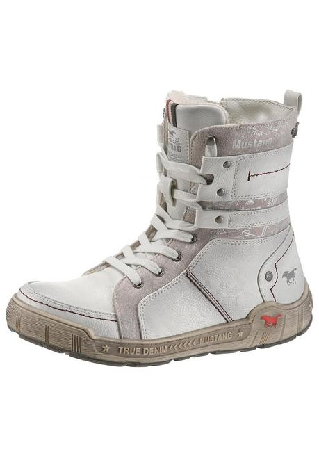 Mustang Shoes Schnürboots - offwhite - 40