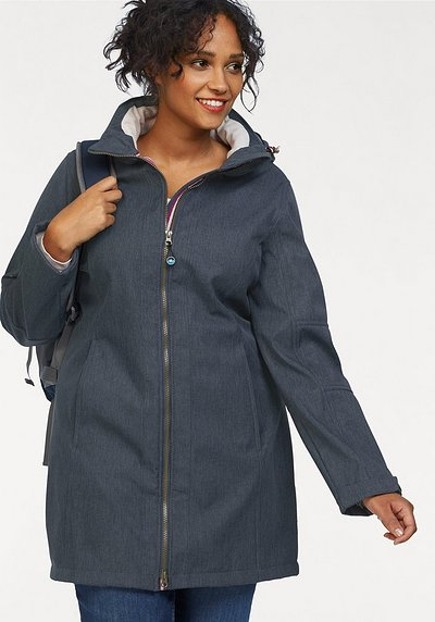 Polarino Softshellparka - marine meliert - 44