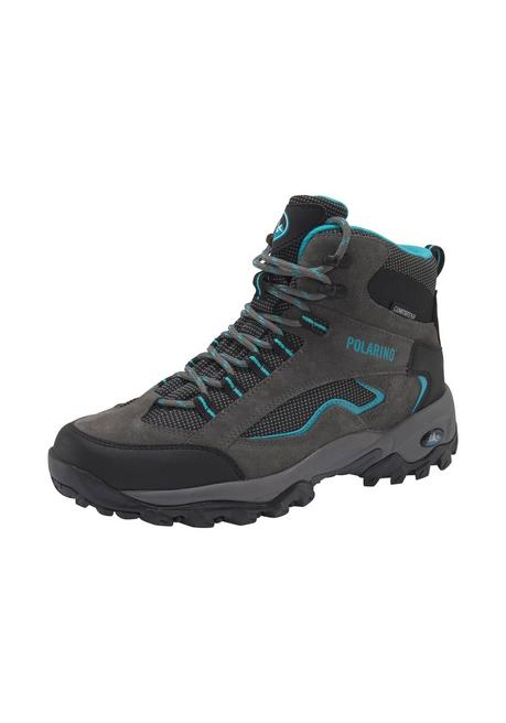 Polarino Outdoorschuh »Visionary High Cut« - grau-türkis - 40