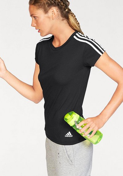 adidas Performance T-Shirt »ESSENTIALS 3S SLIM TEE« - schwarz-weiß - L