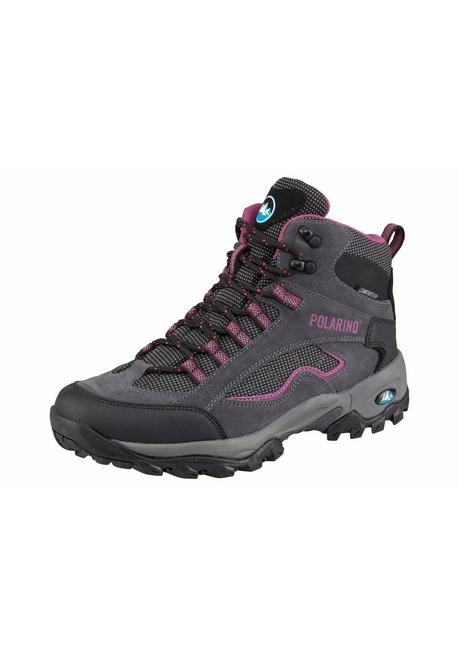Polarino Outdoorschuh »Visionary High Cut« - grau-pink - 40