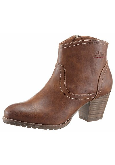 s.Oliver RED LABEL Stiefelette - braun   sheego acc19a84ff