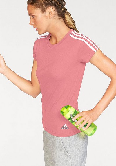 adidas Performance T-Shirt »ESSENTIALS 3S SLIM TEE« - rosa - L