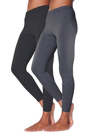 Vivance 2er tight leggings - anthrazit+schwarz - 40/42