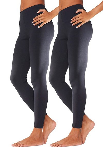 Vivance 2er tight leggings - schwarz - 40/42