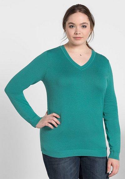 40//42 bis 56//58 rosa hoher Kragen Sheego Pullover Sweatshirt Gr 947
