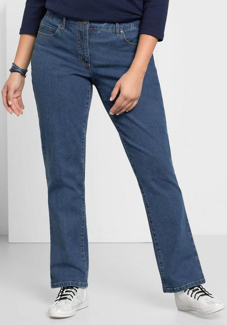 Gerade Stretch-Jeans LANA in 5-Pocket-Form - blue Denim - 40