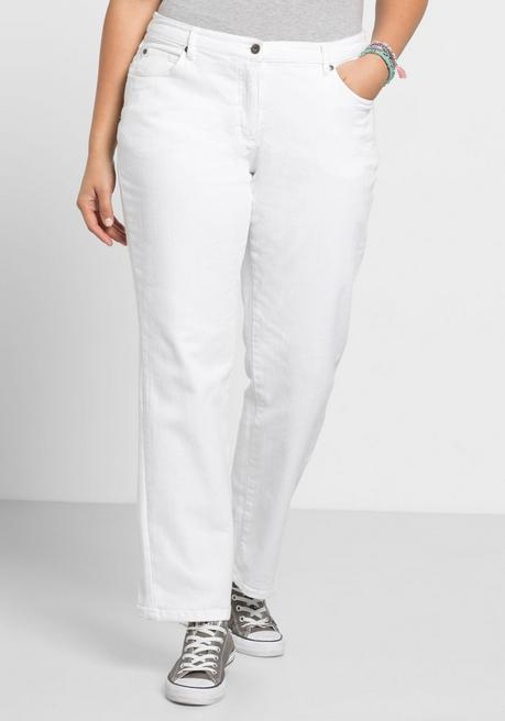 Gerade Stretch-Jeans LANA in 5-Pocket-Form - white Denim - 40