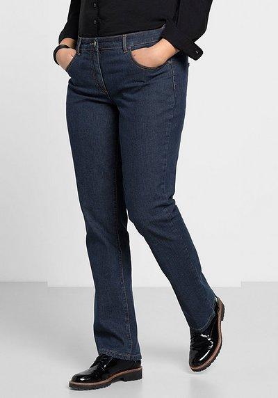 Gerade Stretch-Jeans, dark blue Denim, Gr.21-104