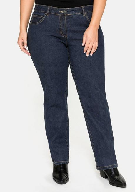 Gerade Stretch-Jeans LANA in 5-Pocket-Form - dark blue Denim - 40