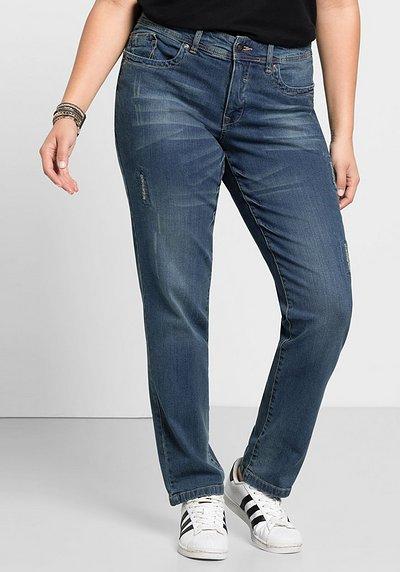 Schmale Stretch-Jeans KIRA, blue Denim, Gr.21-104