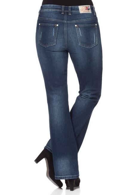 Bootcut Stretch-Jeans - dark blue Denim - 40