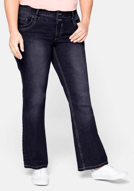 Bootcut-Stretch-Jeans MAILA - blue black Denim - 40