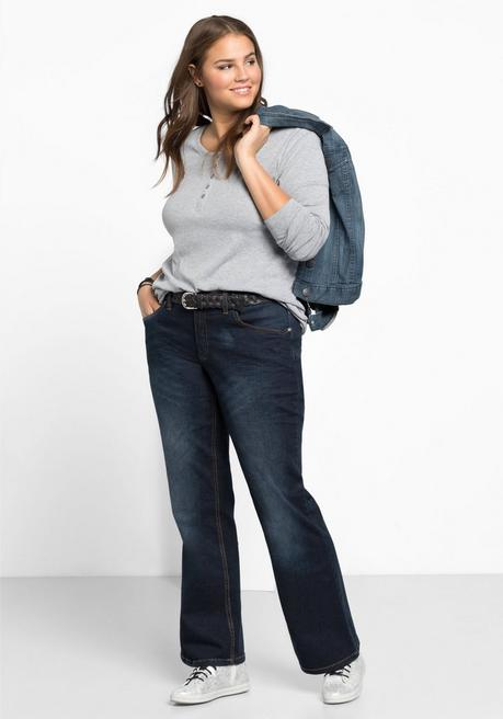 Bootcut-Stretch-Jeans MAILA - dark blue Denim - 40