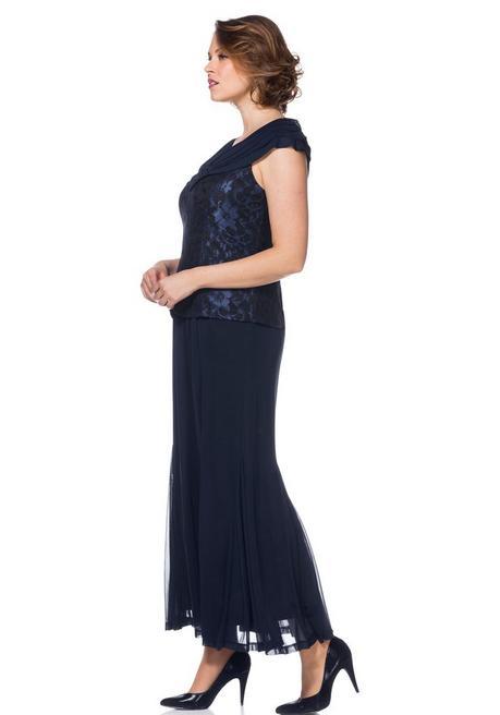 Abendkleid Mit Spitze Blau Sheego