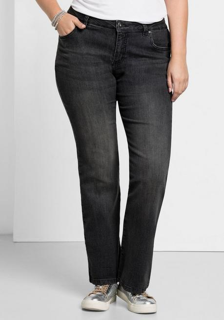 Bootcut-Stretch-Jeans MAILA - black Denim - 40