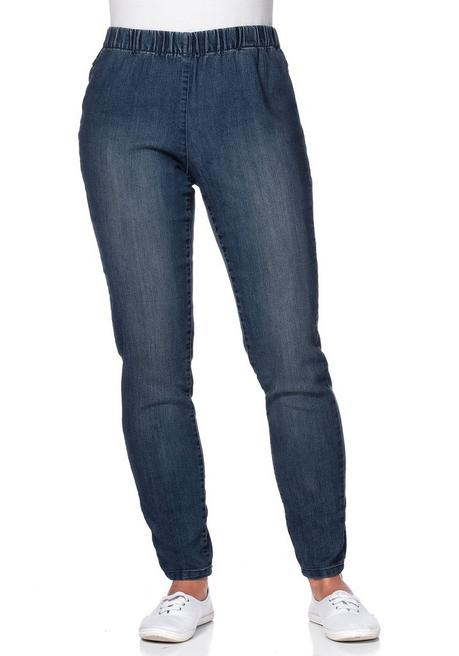 Jeggings mit Used-Effekten - dark blue Denim - 40