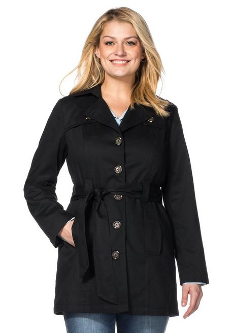 Trenchcoat in Kurzform - schwarz - 40