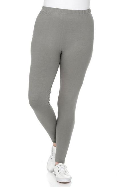 BASIC Leggings mit Gummizugbund - grau - 40