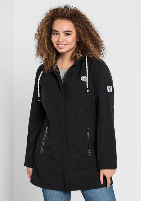 Long-Softshelljacke - schwarz - 40