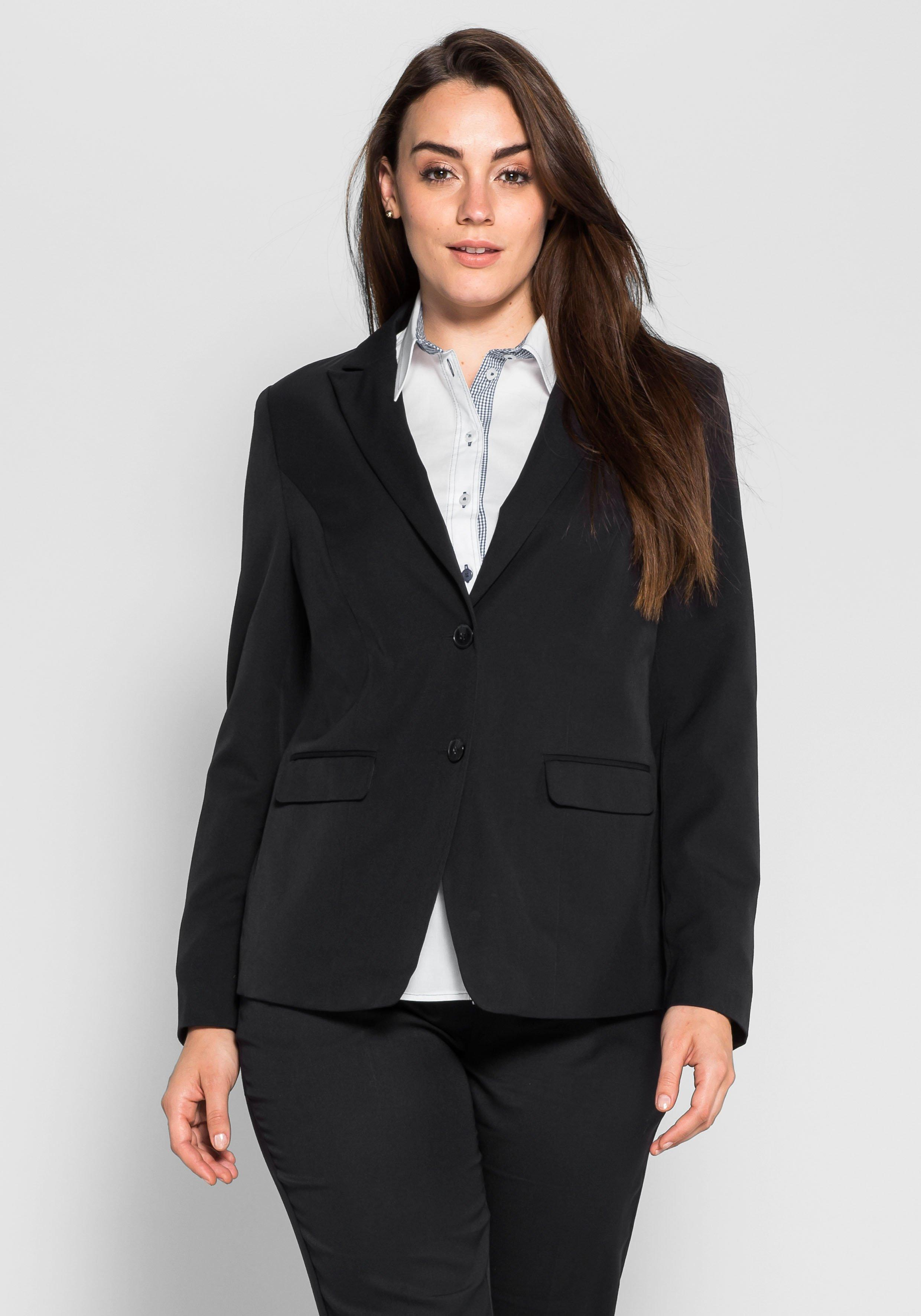 Große Größen: Blazer im klassischen Stil, schwarz, Gr.40-58