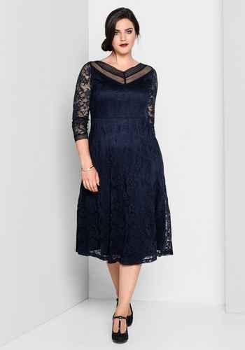 Blau abendkleid große größen lang Abendkleider Lang