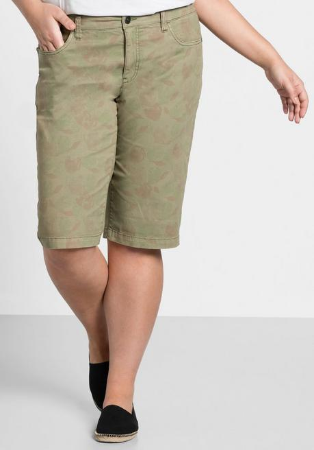 Bermudas mit Alloverdruck - khaki - 44