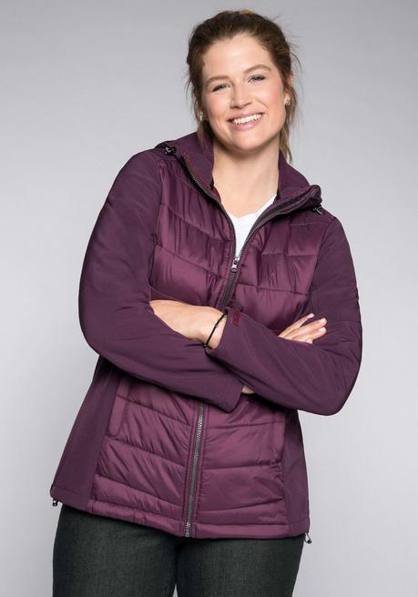 Sheego Softshelljacke - pflaume - 44