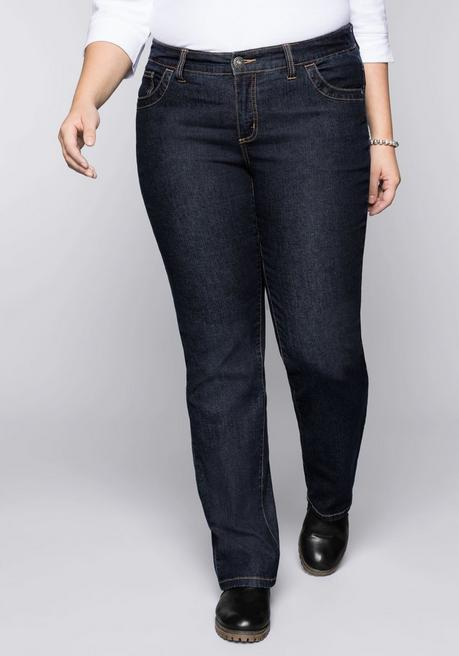 Wasserabweisende Stretch-Jeans LANA in 5-Pocketform - dark blue Denim - 44