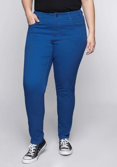 BASIC Stretch-Hose in Karottenform - royalblau - 44