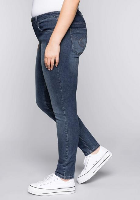 Schmale Stretch-Jeans SUSANNE - dark blue Denim - 44
