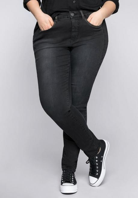 Schmale Power-Stretch-Jeans PIA - black Denim - 44