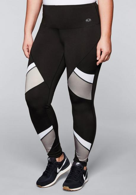 Funktionsleggings mit Colourblocking - schwarz - 44