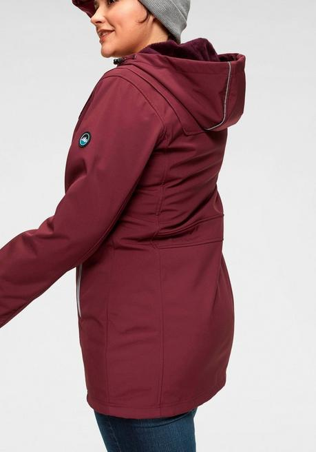 Softshellparka - bordeaux - 40