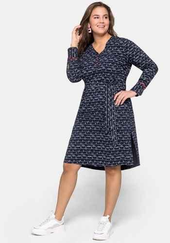 Gunstige Kleider Rocke In Grossen Grossen Blau Sheego Plus Size Mode
