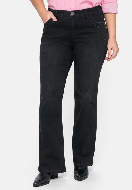 Bootcut Jeans MAILA, ultraflexible Qualität - black Denim - 44