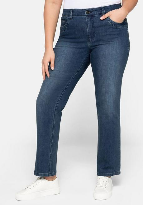 Straight Jeans mit recyceltem Polyester - dark blue Denim - 44