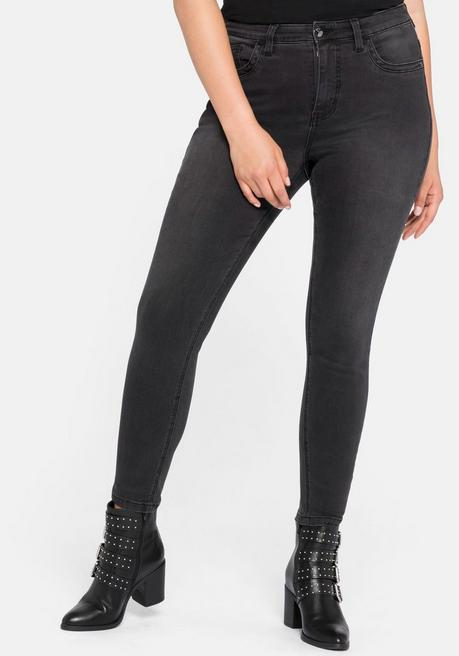Jeans Super Skinny in superelastischer Qualität - black Denim - 44