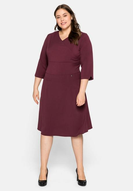 Kleid aus Interlock, mit Bodyforming-Effekt - bordeaux - 44