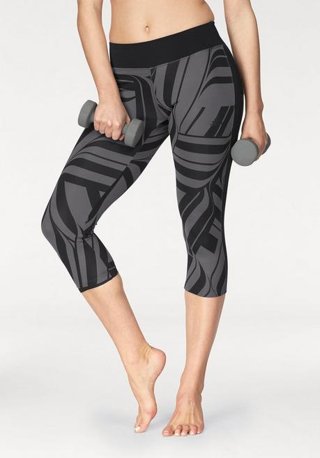 adidas Performance Funktionstights »D2M RR ALLOVERPRINT 3/4« - gemustert - L