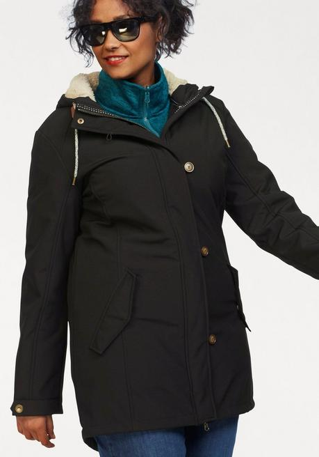 Polarino Softshellparka - schwarz - 44