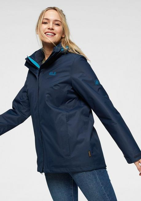 Jack Wolfskin 3-in-1-Funktionsjacke »3in1 ROSS ICE JACKET« (Set, 2 tlg.) - marine - 44