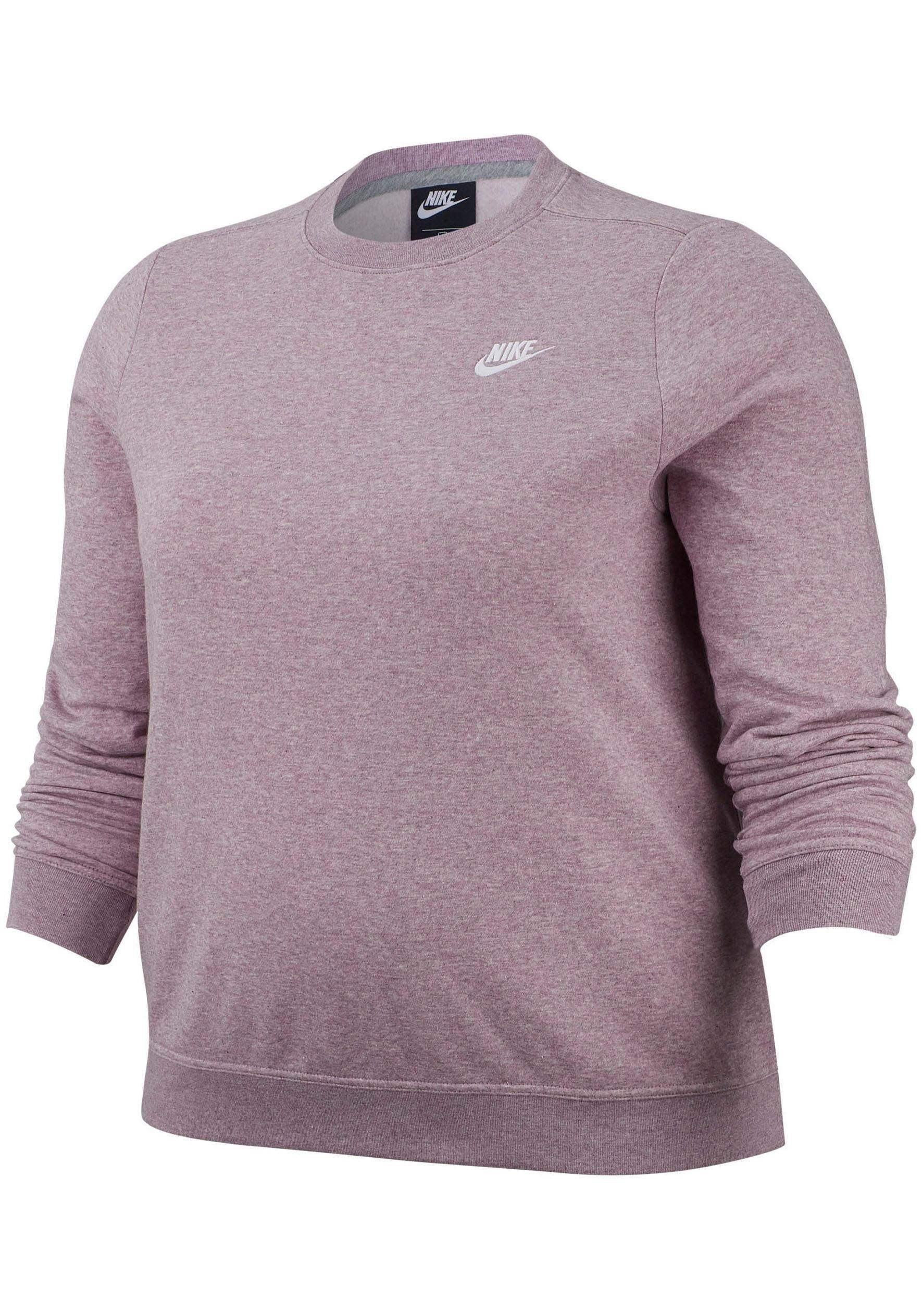 Große Größen: Nike Sportswear Sweatshirt »WOMEN NIKE SPORTSWEAR CLUB CREW FLEECE PLUS SIZE«, flieder, Gr.XL-XXXL