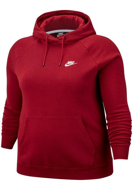 Nike Sportswear Kapuzensweatshirt »WOMEN ESSENTIAL HOODY FLEECE PLUS SIZE« - dunkelrot - XL