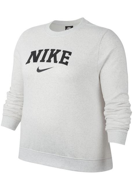 Nike Sportswear Sweatshirt »WOMEN CREW FLEECE BRUSHED VARSITY PLUS SIZE« - weiß - XL