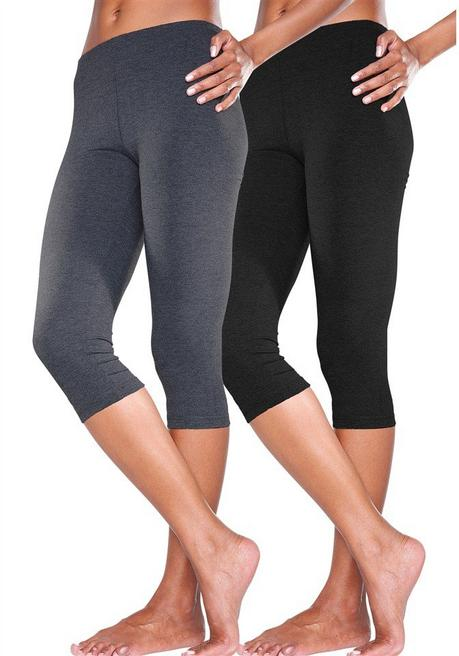 Caprileggings - anthrazit+schwarz - 44/46