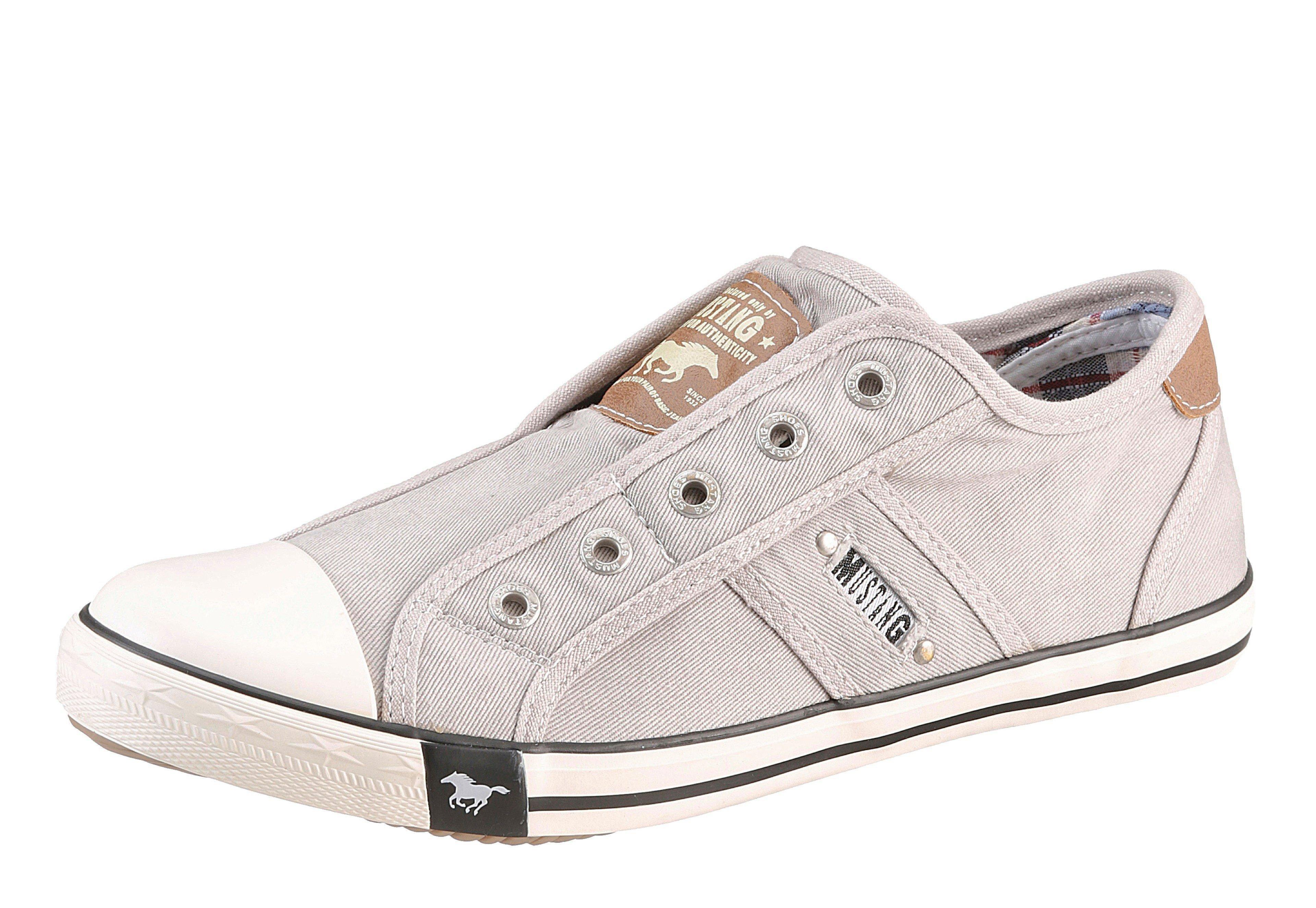 Große Größen: Mustang Shoes Slip-On Sneaker, hellgrau, Gr.36-45