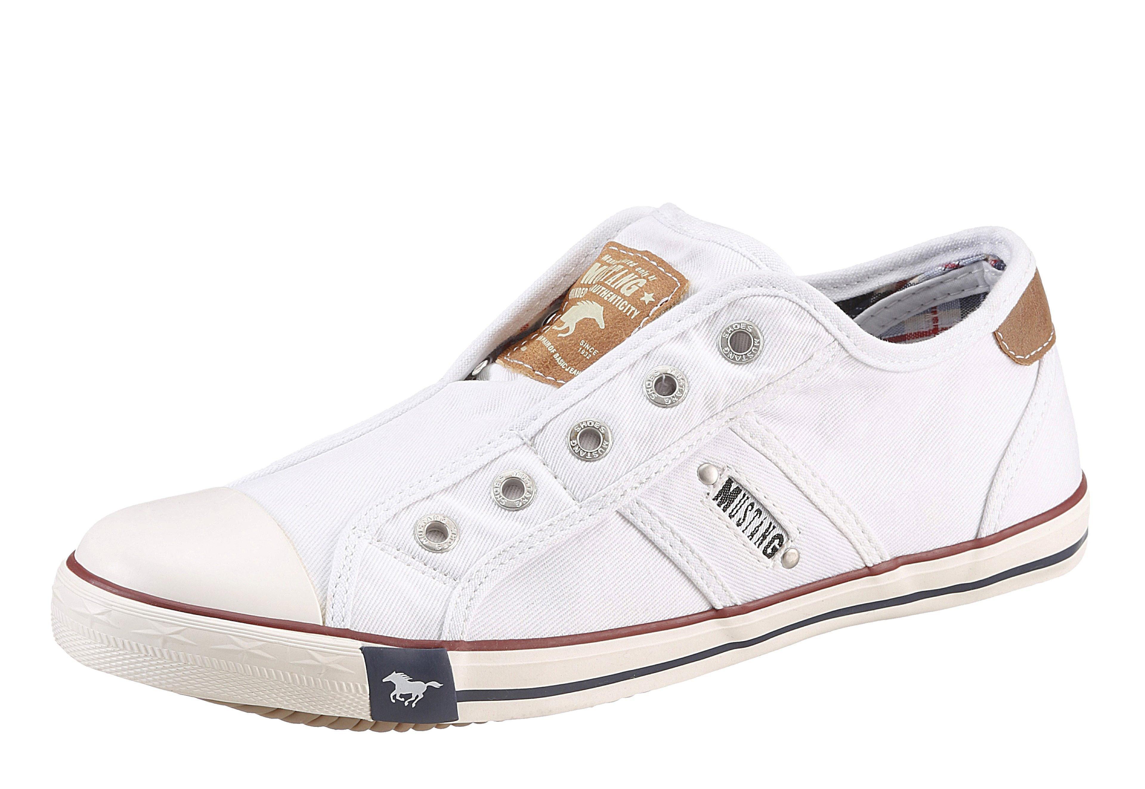 Große Größen: Mustang Shoes Slip-On Sneaker, weiß, Gr.36-45