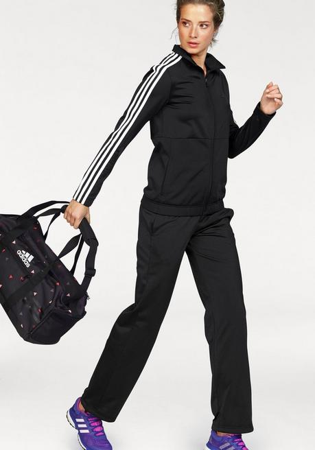 adidas Performance Trainingsanzug »BACK2BASIC 3S TRACKSUIT« (Set, 2 tlg.) - schwarz - L